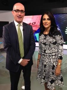 Jean-Luc Desbois with Senior Business Presenter Zeina Soufan