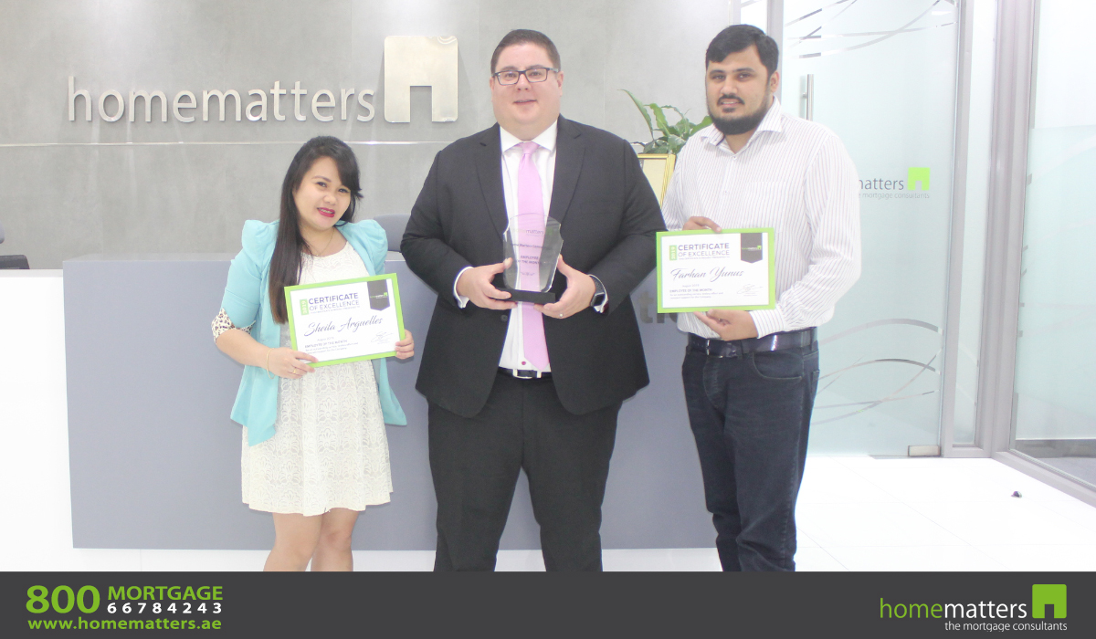September 2019 employee of the month award - Sheila and Farhan Yunus