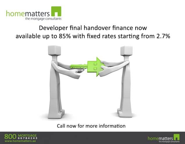 Developer final handover finance