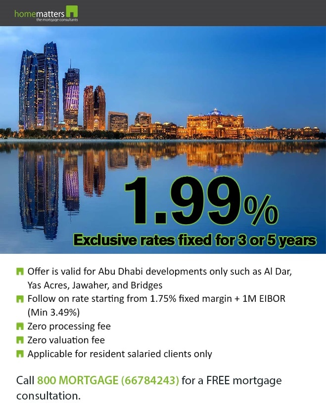 Abu Dhabi 1.99% fixed for 5 years